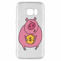 Чохол для Samsung S7 Pig and $