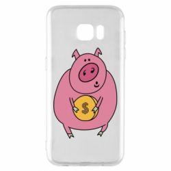 Чохол для Samsung S7 EDGE Pig and $