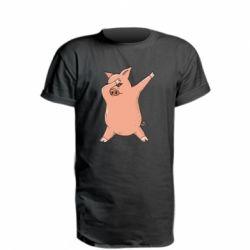 Подовжена футболка Pig dab