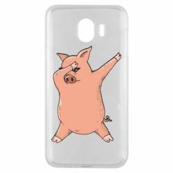 Чохол для Samsung J4 Pig dab