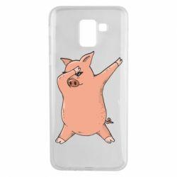 Чохол для Samsung J6 Pig dab