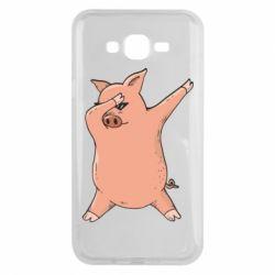 Чохол для Samsung J7 2015 Pig dab
