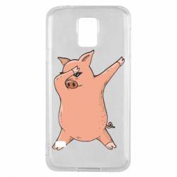 Чохол для Samsung S5 Pig dab