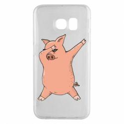 Чохол для Samsung S6 EDGE Pig dab