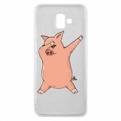 Чохол для Samsung J6 Plus 2018 Pig dab