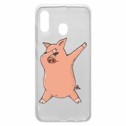 Чохол для Samsung A20 Pig dab