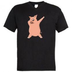 Чоловіча футболка з V-подібним вирізом Pig dab