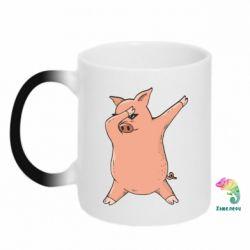Кружка-хамелеон Pig dab