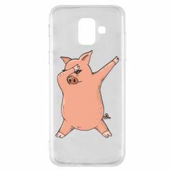 Чохол для Samsung A6 2018 Pig dab