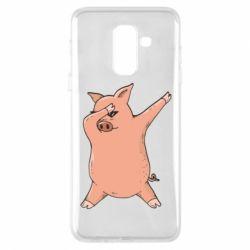 Чохол для Samsung A6+ 2018 Pig dab