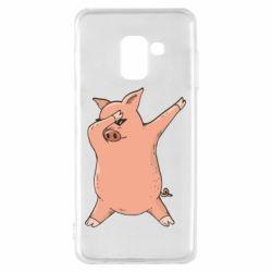 Чохол для Samsung A8 2018 Pig dab