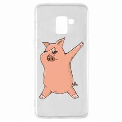 Чохол для Samsung A8+ 2018 Pig dab