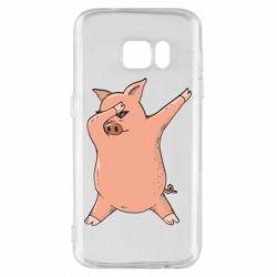 Чохол для Samsung S7 Pig dab