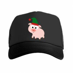 Кепка-тракер Pig in a New Year's cap