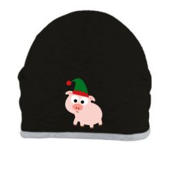 Шапка Pig in a New Year's cap