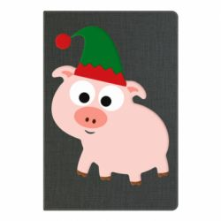 Блокнот А5 Pig in a New Year's cap