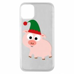 Чохол для iPhone 11 Pro Pig in a New Year's cap