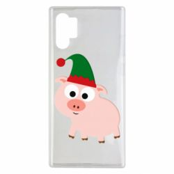 Чохол для Samsung Note 10 Plus Pig in a New Year's cap