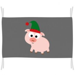 Прапор Pig in a New Year's cap
