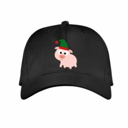 Дитяча кепка Pig in a New Year's cap