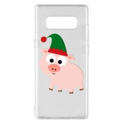 Чохол для Samsung Note 8 Pig in a New Year's cap