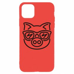 Чехол для iPhone 11 Pro Max Pig in the glasses