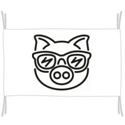 Флаг Pig in the glasses