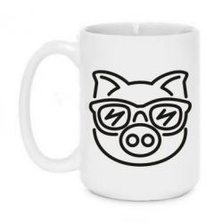 Кружка 420ml Pig in the glasses