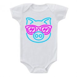 Детский бодик Pig in the glasses