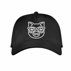 Детская кепка Pig in the glasses