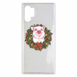 Чохол для Samsung Note 10 Plus Pig with a Christmas wreath