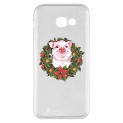 Чохол для Samsung A5 2017 Pig with a Christmas wreath