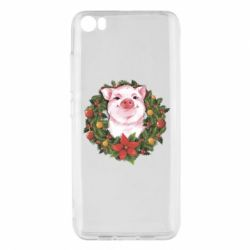 Чохол для Xiaomi Mi5/Mi5 Pro Pig with a Christmas wreath