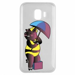 Чохол для Samsung J2 2018 Pig with umbrella