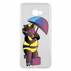 Чохол для Samsung J4 Plus 2018 Pig with umbrella