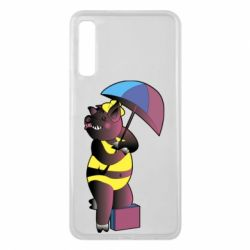 Чохол для Samsung A7 2018 Pig with umbrella