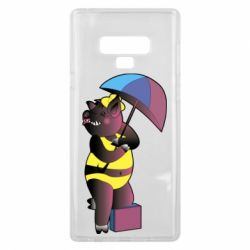 Чохол для Samsung Note 9 Pig with umbrella