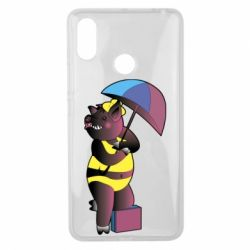 Чохол для Xiaomi Mi Max 3 Pig with umbrella