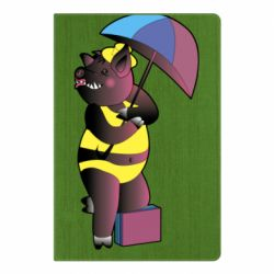 Блокнот А5 Pig with umbrella