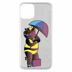 Чохол для iPhone 11 Pig with umbrella
