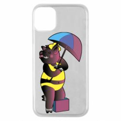 Чохол для iPhone 11 Pro Pig with umbrella