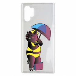 Чохол для Samsung Note 10 Plus Pig with umbrella