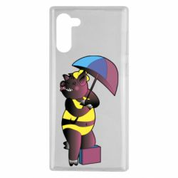 Чохол для Samsung Note 10 Pig with umbrella