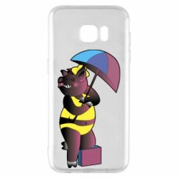 Чохол для Samsung S7 EDGE Pig with umbrella