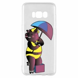 Чохол для Samsung S8 Pig with umbrella