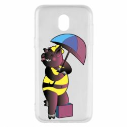 Чохол для Samsung J5 2017 Pig with umbrella
