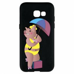 Чохол для Samsung A5 2017 Pig with umbrella
