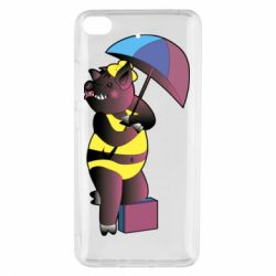 Чохол для Xiaomi Mi 5s Pig with umbrella