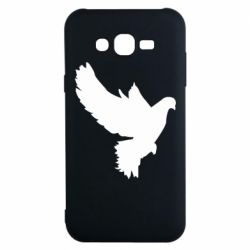 Чехол для Samsung J7 2015 Pigeon silhouette