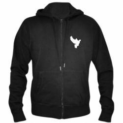 Мужская толстовка на молнии Pigeon silhouette